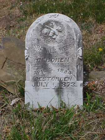 WESSA, JOHANNES - Meigs County, Ohio | JOHANNES WESSA - Ohio Gravestone Photos