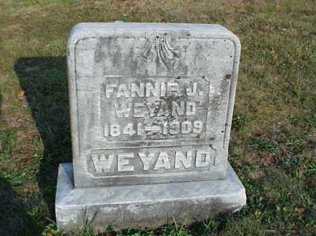 WEYAND, FANNIE J. - Meigs County, Ohio   FANNIE J. WEYAND - Ohio Gravestone Photos