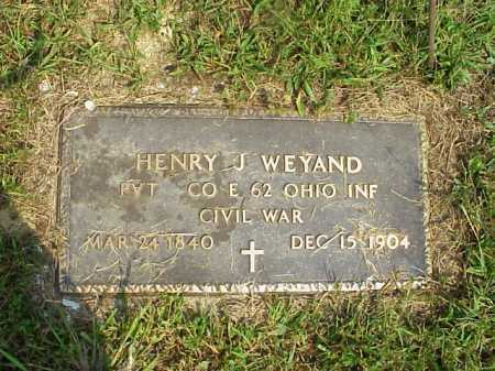 WEYAND, HENRY J.[JACOB] - Meigs County, Ohio | HENRY J.[JACOB] WEYAND - Ohio Gravestone Photos