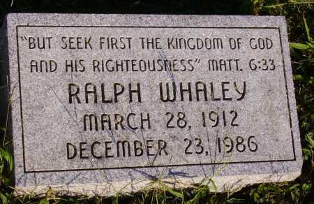 WHALEY, RALPH - Meigs County, Ohio   RALPH WHALEY - Ohio Gravestone Photos