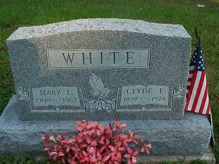 WHITE, MARY L. - Meigs County, Ohio | MARY L. WHITE - Ohio Gravestone Photos