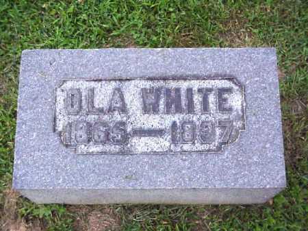 WHITE, OLA - Meigs County, Ohio | OLA WHITE - Ohio Gravestone Photos