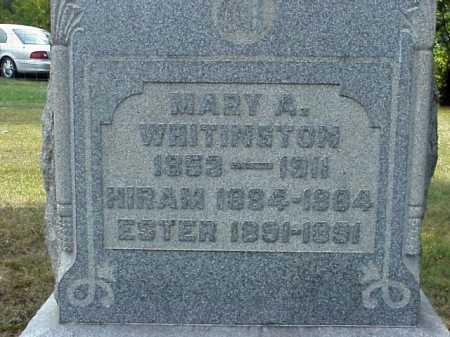 WHITINGTON, ESTHER - Meigs County, Ohio | ESTHER WHITINGTON - Ohio Gravestone Photos
