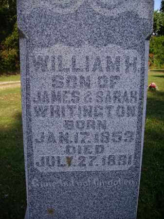 WHITINGTON, WILLIAM H - Meigs County, Ohio   WILLIAM H WHITINGTON - Ohio Gravestone Photos