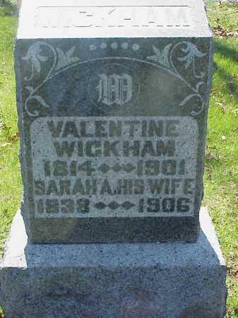 WICKHAM, VALENTINE - Meigs County, Ohio | VALENTINE WICKHAM - Ohio Gravestone Photos