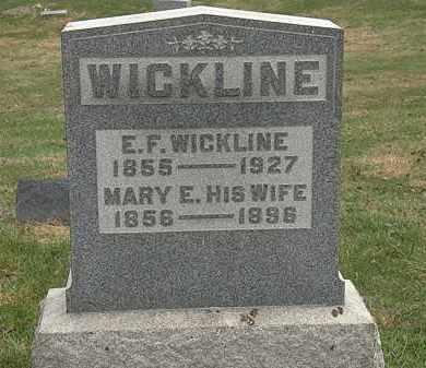 WICKLINE, MARY E. - Meigs County, Ohio   MARY E. WICKLINE - Ohio Gravestone Photos