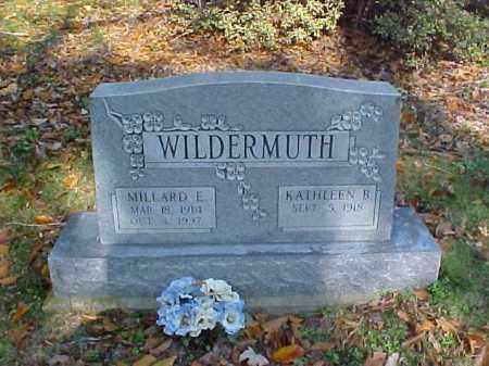 WILDERMUTH, KATHLEEN B. - Meigs County, Ohio | KATHLEEN B. WILDERMUTH - Ohio Gravestone Photos