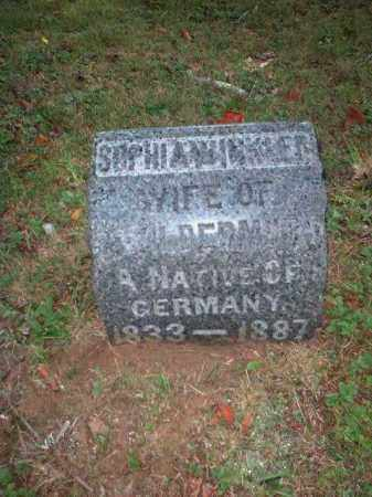WILDERMUTH, SOPHIA - Meigs County, Ohio | SOPHIA WILDERMUTH - Ohio Gravestone Photos