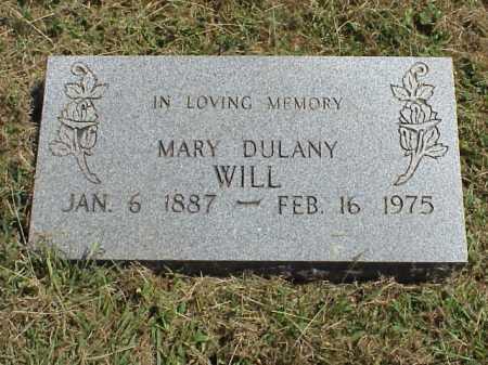 WILL, MARY DULANY - Meigs County, Ohio | MARY DULANY WILL - Ohio Gravestone Photos