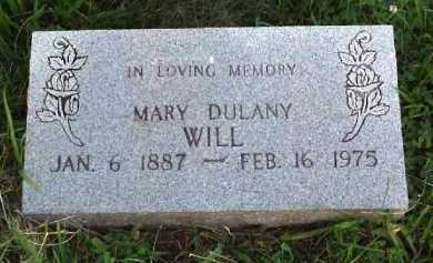 DULANY WILL, MARY - Meigs County, Ohio   MARY DULANY WILL - Ohio Gravestone Photos