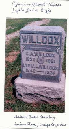 DYKE WILLCOX, LYDIA L. - Meigs County, Ohio | LYDIA L. DYKE WILLCOX - Ohio Gravestone Photos