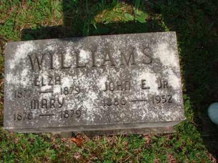 WILLIAMS, JOHN E. JR. - Meigs County, Ohio   JOHN E. JR. WILLIAMS - Ohio Gravestone Photos