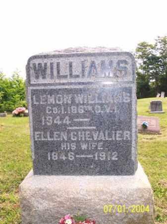CHEVALIER WILLIAMS, ELLEN - Meigs County, Ohio   ELLEN CHEVALIER WILLIAMS - Ohio Gravestone Photos