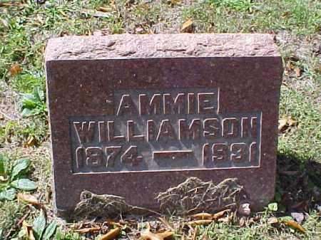 WILLIAMSON, AMMIE - Meigs County, Ohio   AMMIE WILLIAMSON - Ohio Gravestone Photos