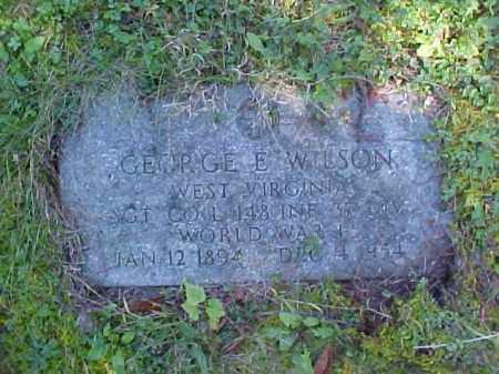 WILSON, GEORGE E. - Meigs County, Ohio   GEORGE E. WILSON - Ohio Gravestone Photos