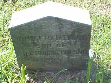 WILSON, JOHN FREDERICK - Meigs County, Ohio | JOHN FREDERICK WILSON - Ohio Gravestone Photos