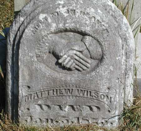 WILSON, MATTHEW - Meigs County, Ohio | MATTHEW WILSON - Ohio Gravestone Photos