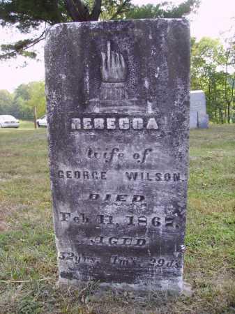 WILSON, REBECCA - Meigs County, Ohio | REBECCA WILSON - Ohio Gravestone Photos