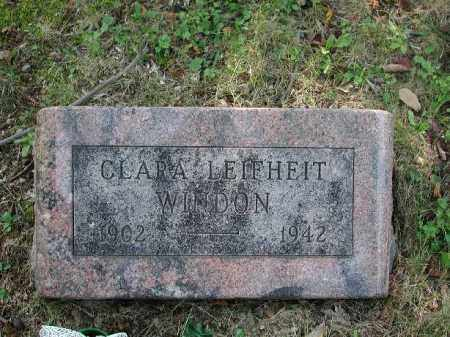 LEIFHEIT WINDON, CLARA - Meigs County, Ohio | CLARA LEIFHEIT WINDON - Ohio Gravestone Photos