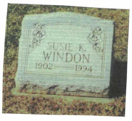 WINDON, SUSIE - Meigs County, Ohio | SUSIE WINDON - Ohio Gravestone Photos