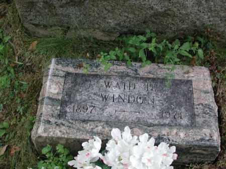 WINDON, WAID D. - Meigs County, Ohio | WAID D. WINDON - Ohio Gravestone Photos