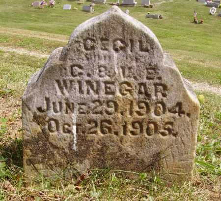 WINEGAR, CECIL - Meigs County, Ohio | CECIL WINEGAR - Ohio Gravestone Photos