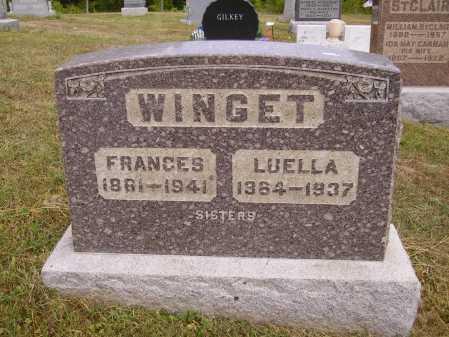 WINGET, LUELLA - Meigs County, Ohio | LUELLA WINGET - Ohio Gravestone Photos