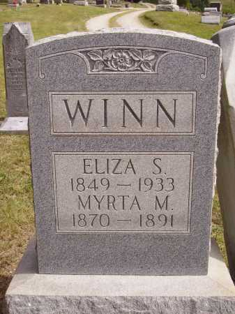 WINN, ELIZA S. - Meigs County, Ohio | ELIZA S. WINN - Ohio Gravestone Photos