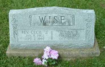 WISE, LEONA B. - Meigs County, Ohio   LEONA B. WISE - Ohio Gravestone Photos