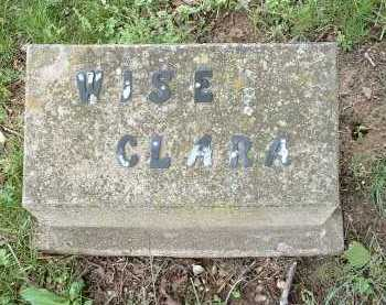 WISE, CLARA - Meigs County, Ohio | CLARA WISE - Ohio Gravestone Photos