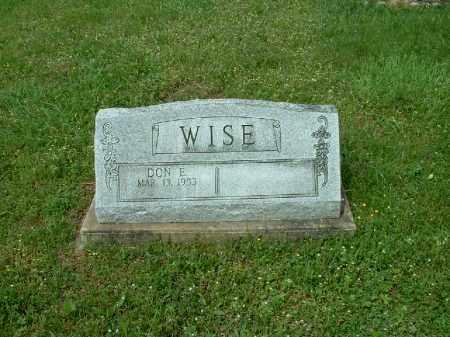 WISE, DON E. - Meigs County, Ohio | DON E. WISE - Ohio Gravestone Photos