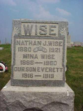 WISE, MINA - Meigs County, Ohio | MINA WISE - Ohio Gravestone Photos