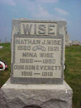 WISE, NATHAN J. - Meigs County, Ohio | NATHAN J. WISE - Ohio Gravestone Photos