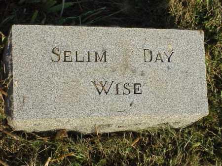 WISE, SELIM DAY - Meigs County, Ohio   SELIM DAY WISE - Ohio Gravestone Photos