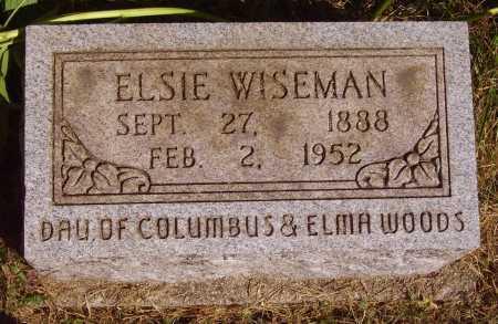 WOODS WISEMAN, ELSIE - Meigs County, Ohio | ELSIE WOODS WISEMAN - Ohio Gravestone Photos