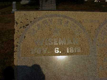 WISEMAN, MARY - Meigs County, Ohio | MARY WISEMAN - Ohio Gravestone Photos