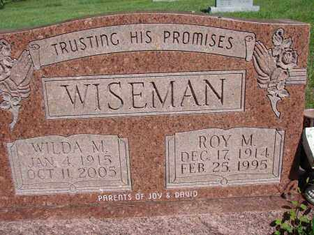 WISEMAN, WILDA M - Meigs County, Ohio   WILDA M WISEMAN - Ohio Gravestone Photos