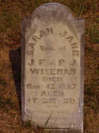 WISEMAN, SARAH JANE - Meigs County, Ohio | SARAH JANE WISEMAN - Ohio Gravestone Photos