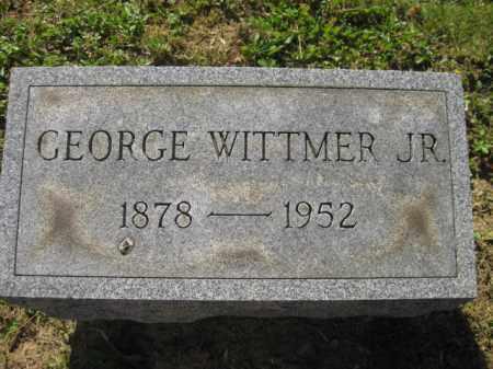WITTMER, JR, GEORGE - Meigs County, Ohio | GEORGE WITTMER, JR - Ohio Gravestone Photos