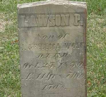 WOLF, J. - Meigs County, Ohio   J. WOLF - Ohio Gravestone Photos