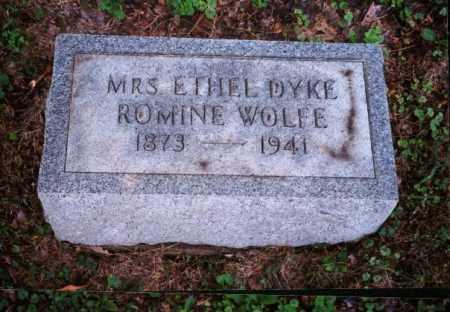 DYKE-ROMINE WOLFE, ETHEL - Meigs County, Ohio | ETHEL DYKE-ROMINE WOLFE - Ohio Gravestone Photos
