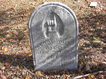 WOLFE, HENRY - Meigs County, Ohio | HENRY WOLFE - Ohio Gravestone Photos