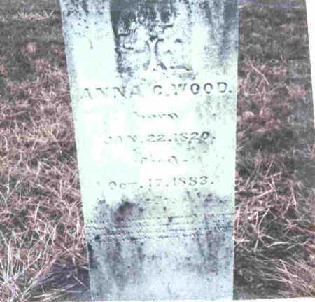 MCDOWELL WOOD, ANNA C. - Meigs County, Ohio | ANNA C. MCDOWELL WOOD - Ohio Gravestone Photos
