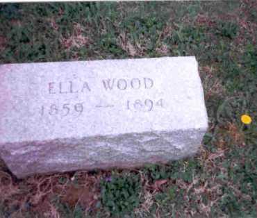 WOOD, ELLA - Meigs County, Ohio | ELLA WOOD - Ohio Gravestone Photos