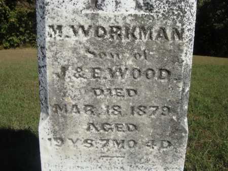 WOOD, M. WORKMAN - CLOSE VIEW - Meigs County, Ohio | M. WORKMAN - CLOSE VIEW WOOD - Ohio Gravestone Photos