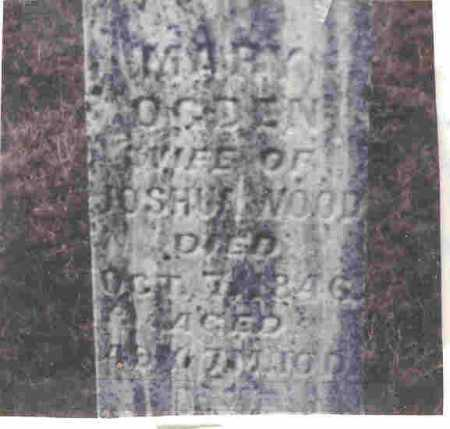 OGDIN WOOD, MARY - Meigs County, Ohio   MARY OGDIN WOOD - Ohio Gravestone Photos