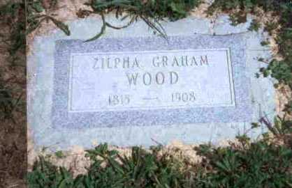 GRAHAM WOOD, ZILPHA - Meigs County, Ohio | ZILPHA GRAHAM WOOD - Ohio Gravestone Photos