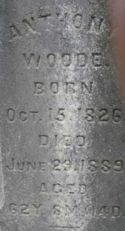 WOODE, ANTHONY - Meigs County, Ohio   ANTHONY WOODE - Ohio Gravestone Photos