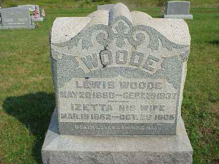 WOODE, IZETTA - Meigs County, Ohio | IZETTA WOODE - Ohio Gravestone Photos