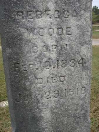 WOODE, REBECCA - Meigs County, Ohio | REBECCA WOODE - Ohio Gravestone Photos